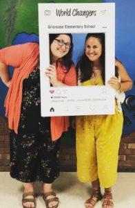 Nicole Powell and Hanna Al-Louri, co teachers at Gilcrease Elementary.